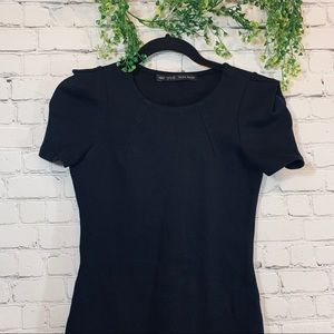 Zara | Basic Black Fitted Dress Size Small